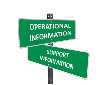 OPERATIONAL VS SUPPORT INFORMATION